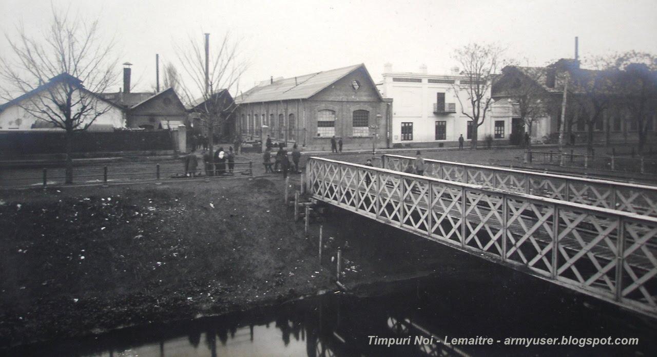 Timpuri Noi - pod peste Dâmbovița, spre Fabrica Lemaître