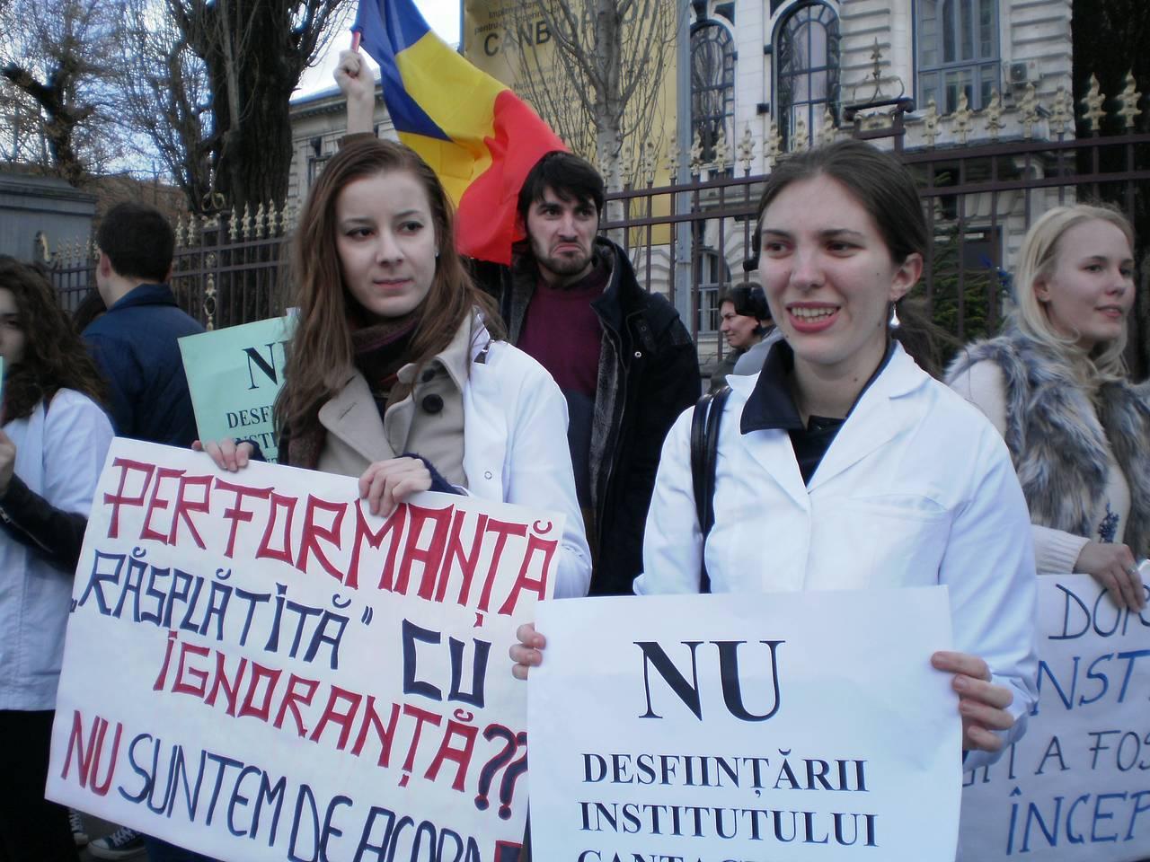 NU desființării Institutului Cantacuzino